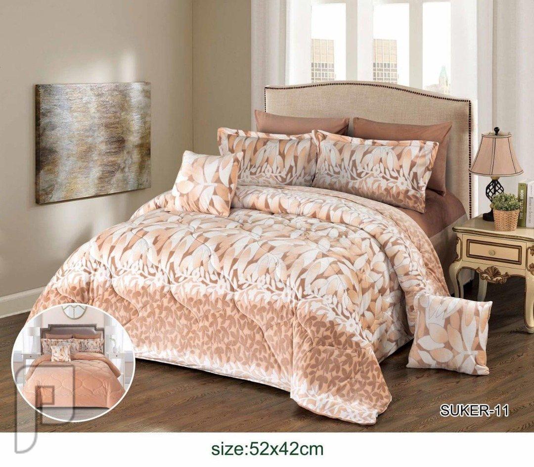 مفرش سرير 8 قطع مخمل نفرين راقي جدا