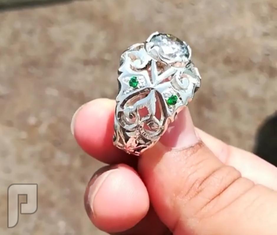 خاتم موزنايت قياس الالماس فخامه