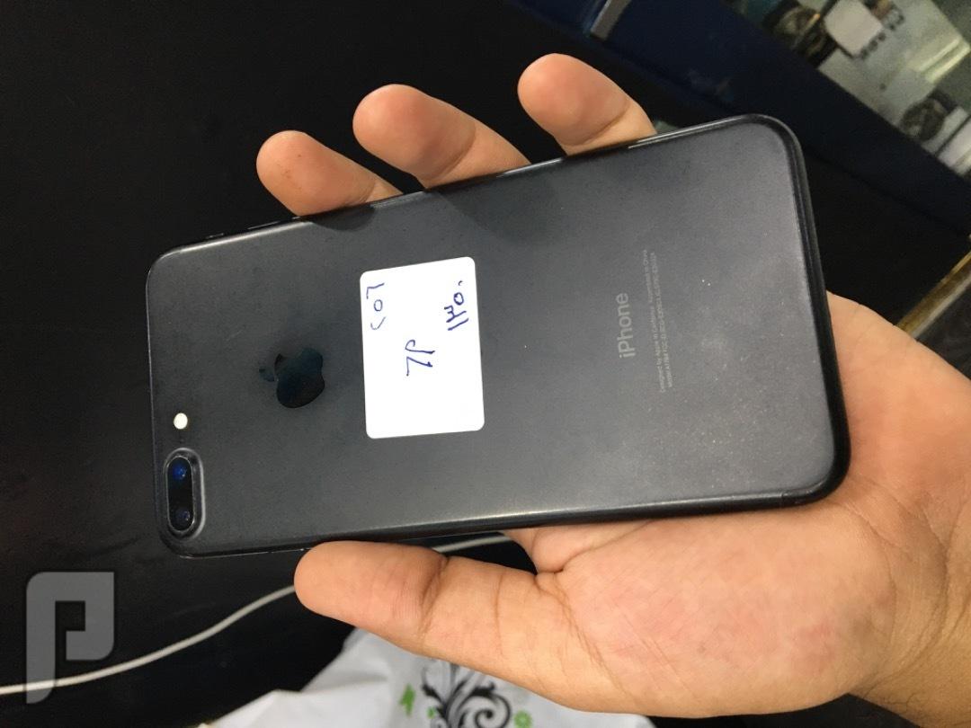 للبيع ايفون 7 بلس اسود 256 قيقا مستخدم