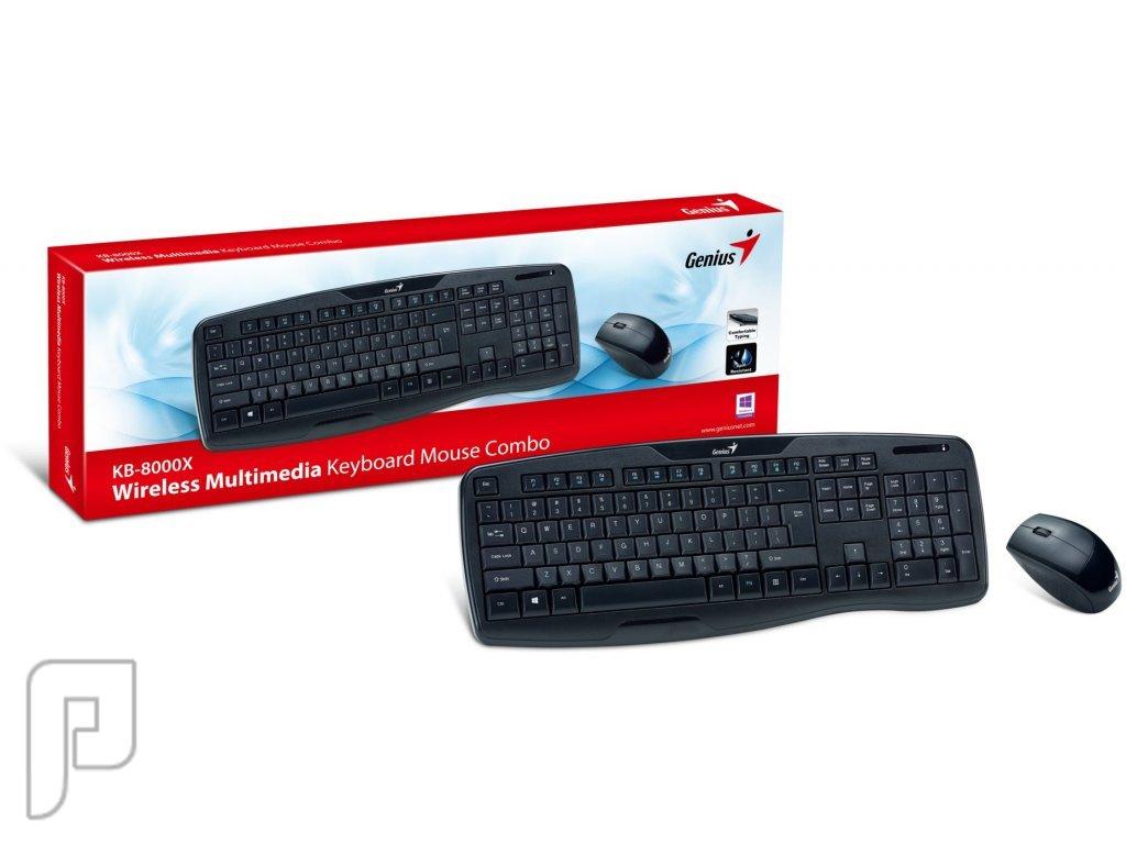 كيبورد لوحة مفاتيح و ماوس لاسلكي وايرلس جينيوس