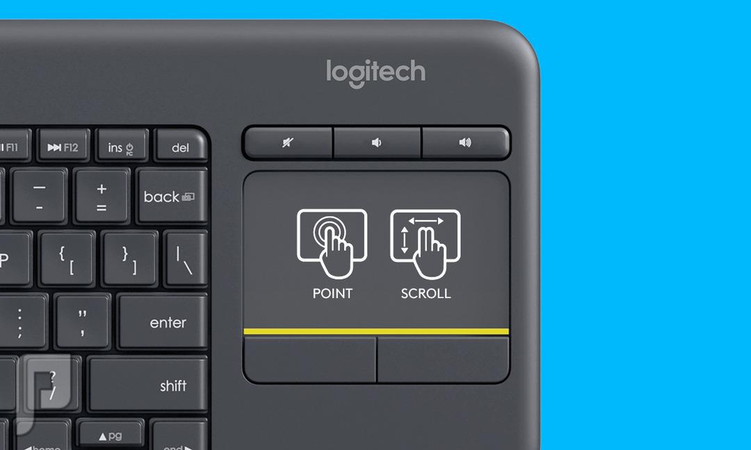 كيبورد لوحة مفاتيح و ماوس لمس لاسلكي وايرلس Logitech K400 Plus