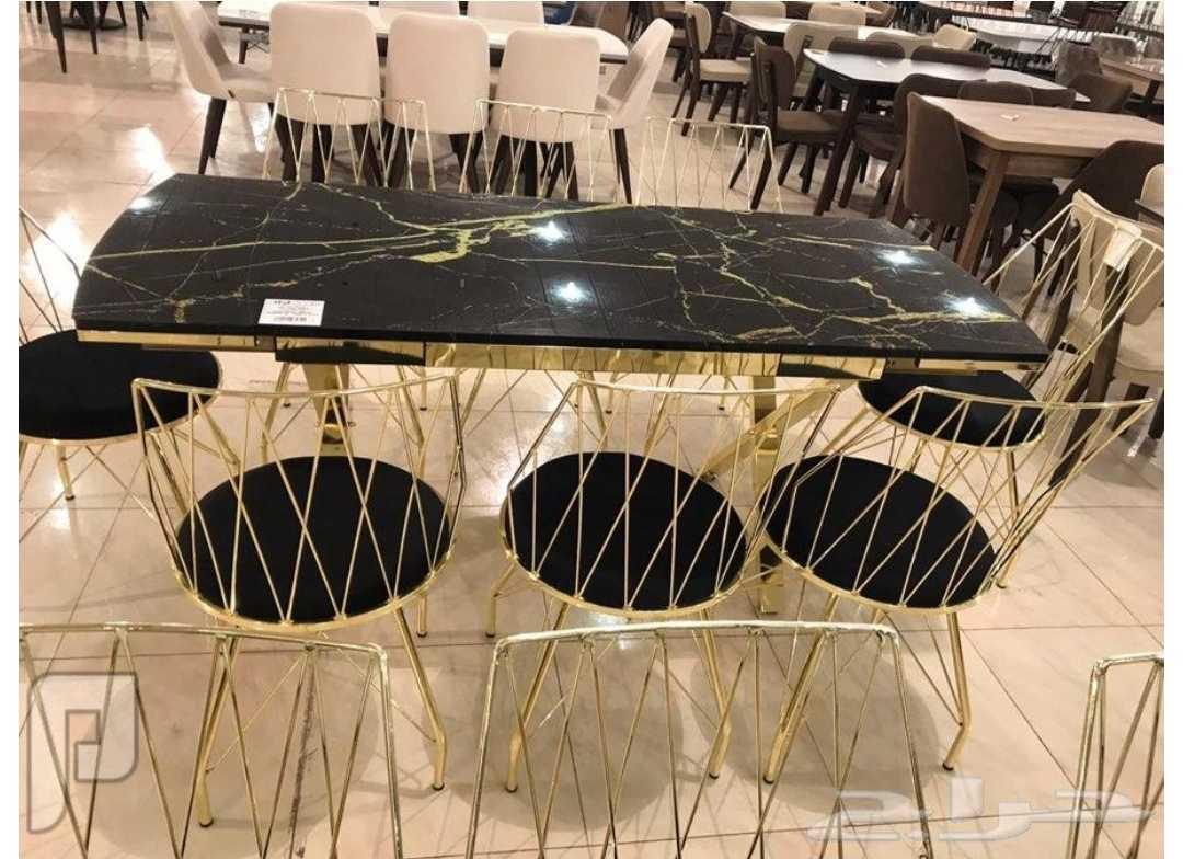 طاولة زجاج 8 كراسي صناعة تركيه