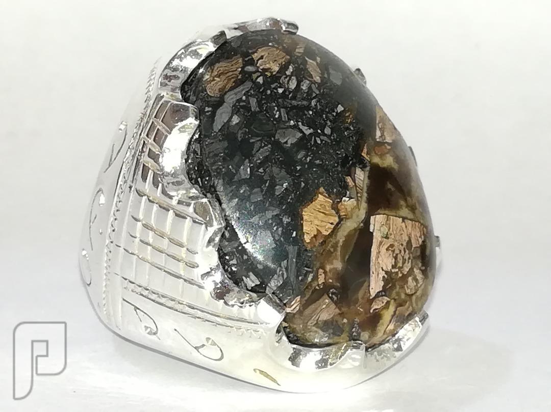 خاتم ملكي بحجر عقيق يماني خرايطي قديم ومخزن