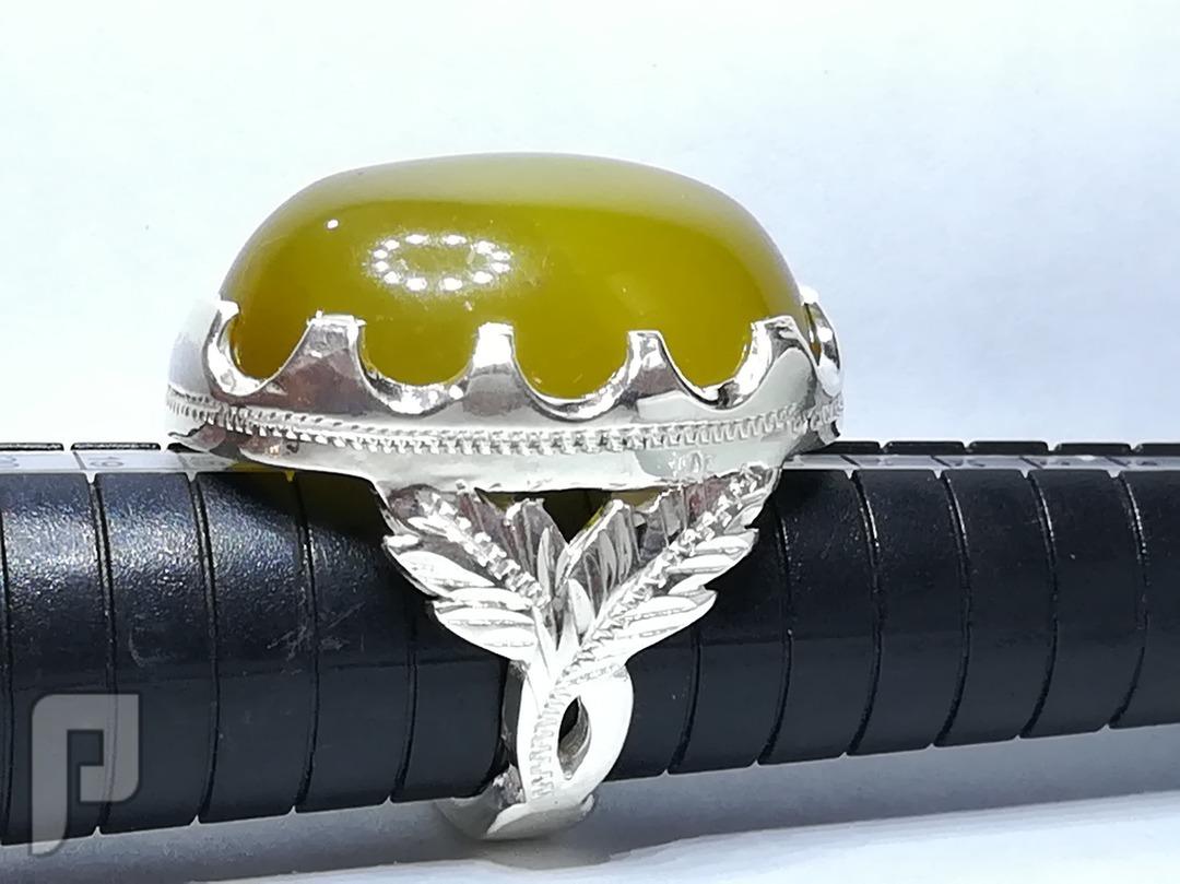 خاتم عقيق يماني طبيعي شرف الشمس قبه صافيه