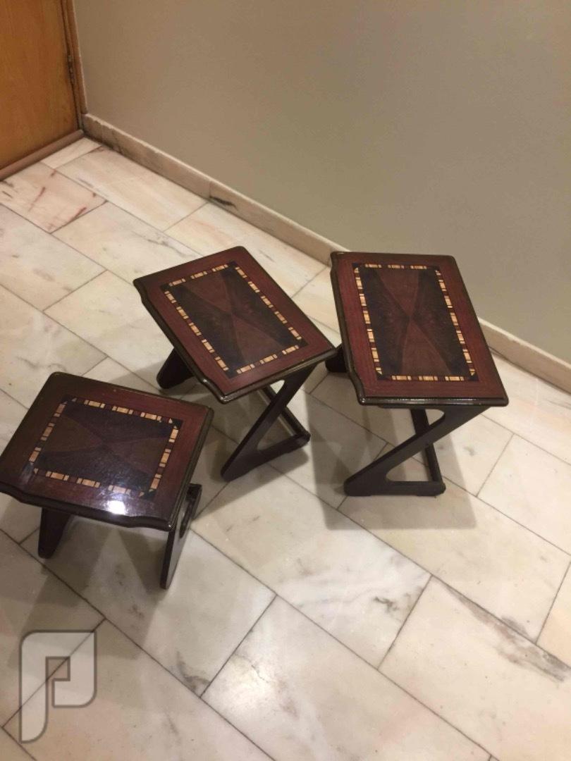 للبيع طقم 3 قطع طاولات خدمة خشب