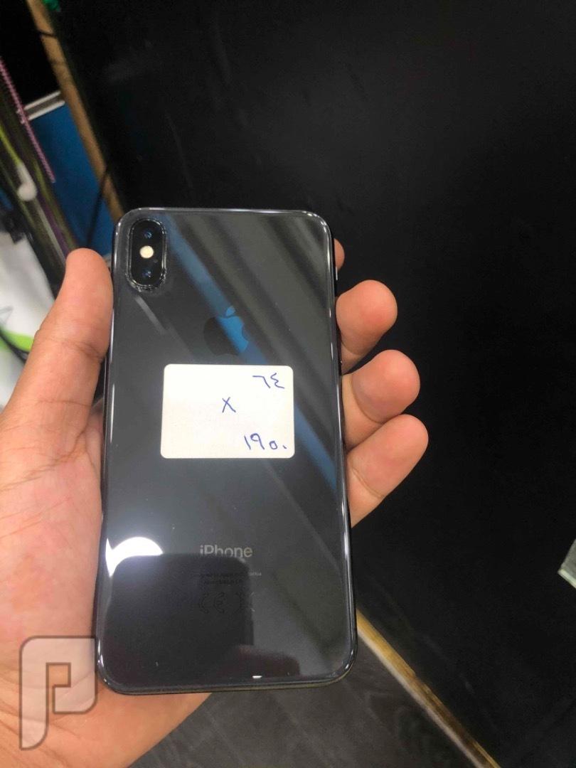 للبيع ايفون اكس 64 اسود مستخدم نظيف
