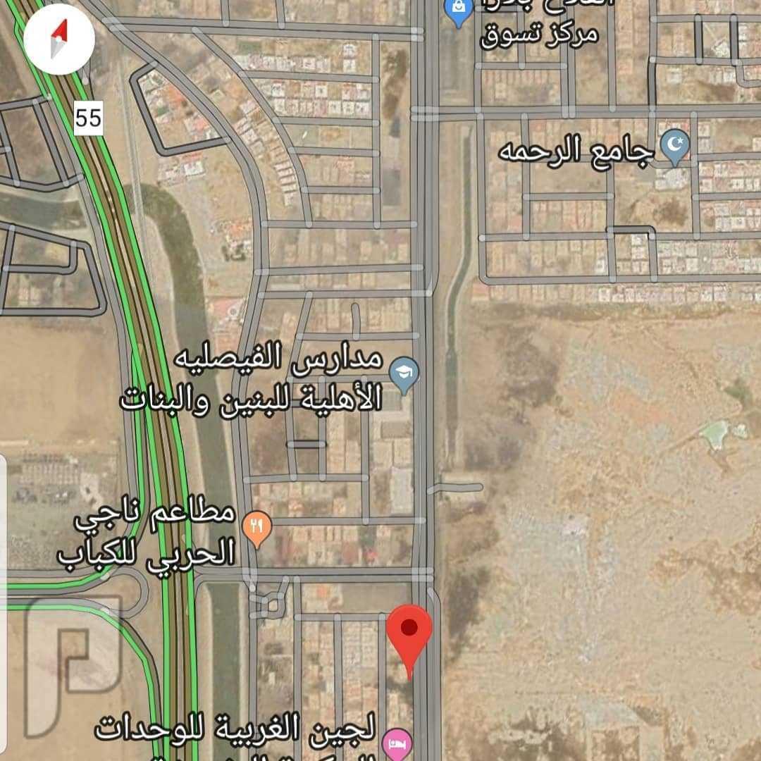 أرض تجارية للإيجار شمال شرق جدة حي الحمدانيه
