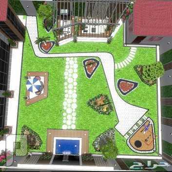 تصميم وتقسيم وتنسيق حدائق ومنازل