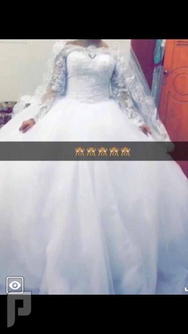 فستان زواج سبب البيع حاجتي للمال لبسته فقط 4 ساعات فقققط