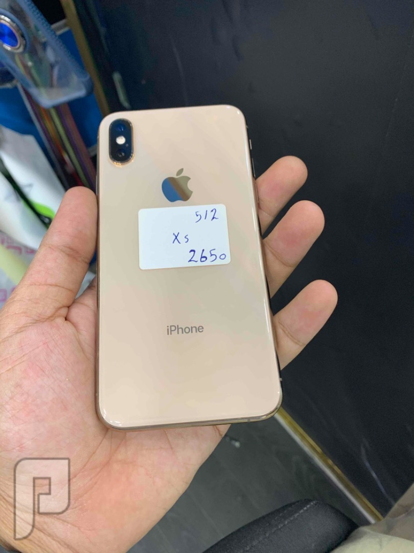 للبيع ايفون اكس اس 512 ذهبي نظيف