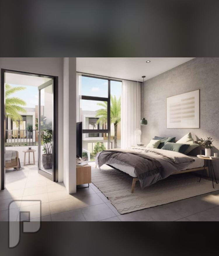 بدون رسوم تسجيل تملك تاون هاوس غرفتين بدبي لاند بجوده وتصميم اوربي