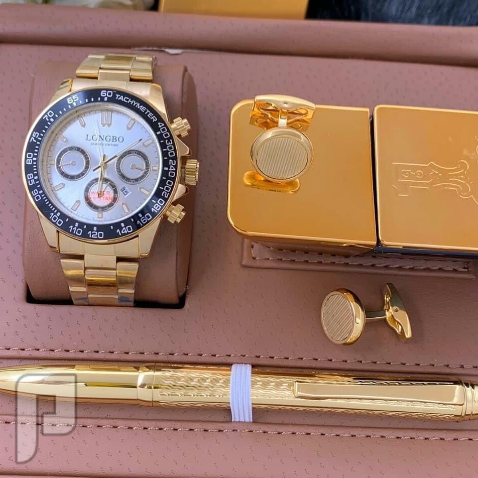 طقم ساعة  رجالي من افخم الموديلات بتصميم رولكس