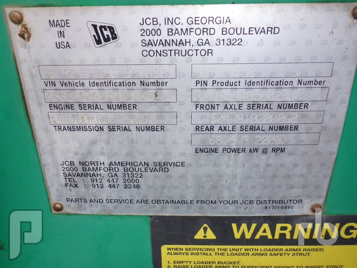 IT#lot 35 2006 JCB 214E 4x4 Loader Backhoe