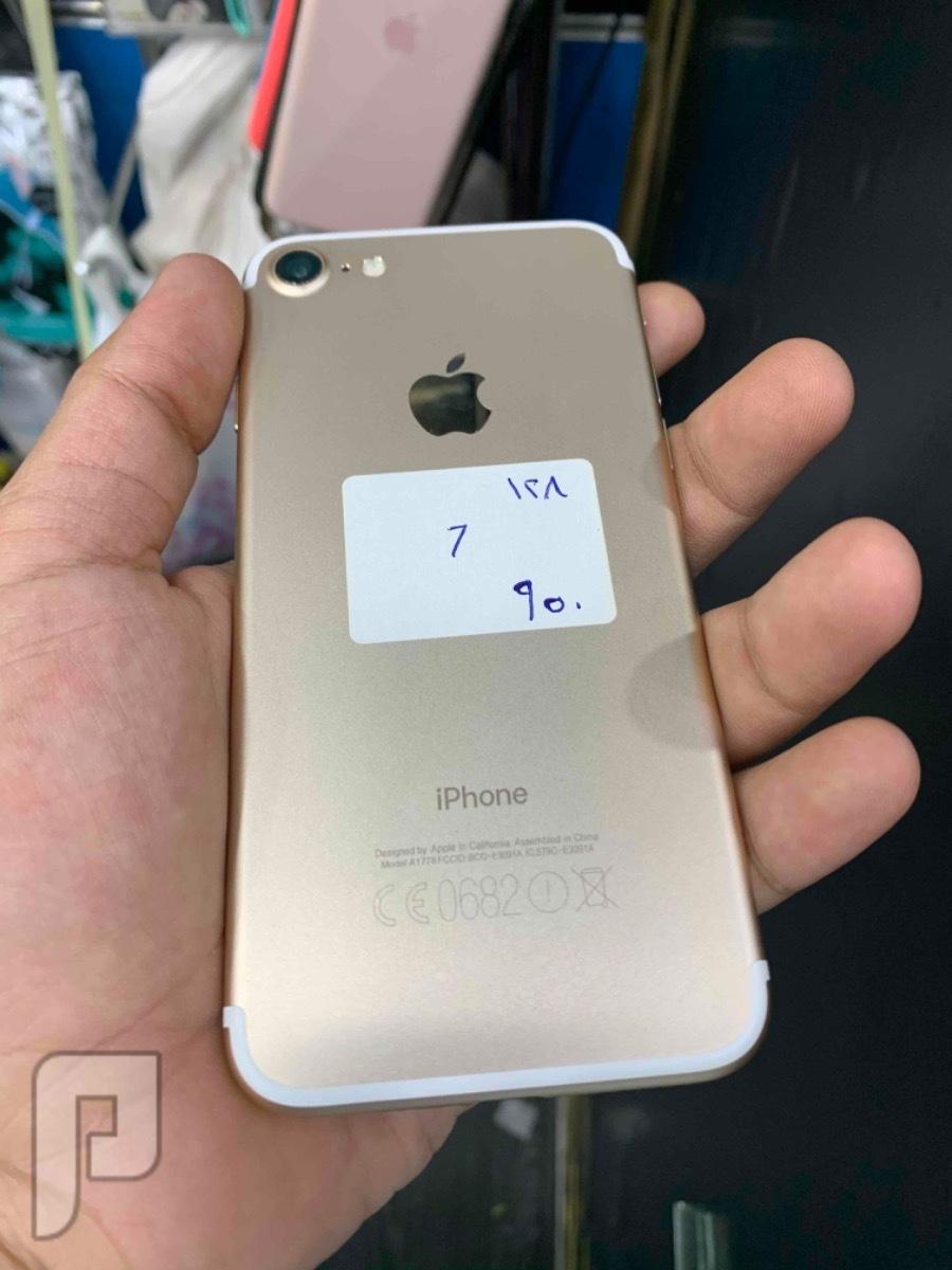 للبيع ايفون 7 ذهبي 128 مستخدم نظيف