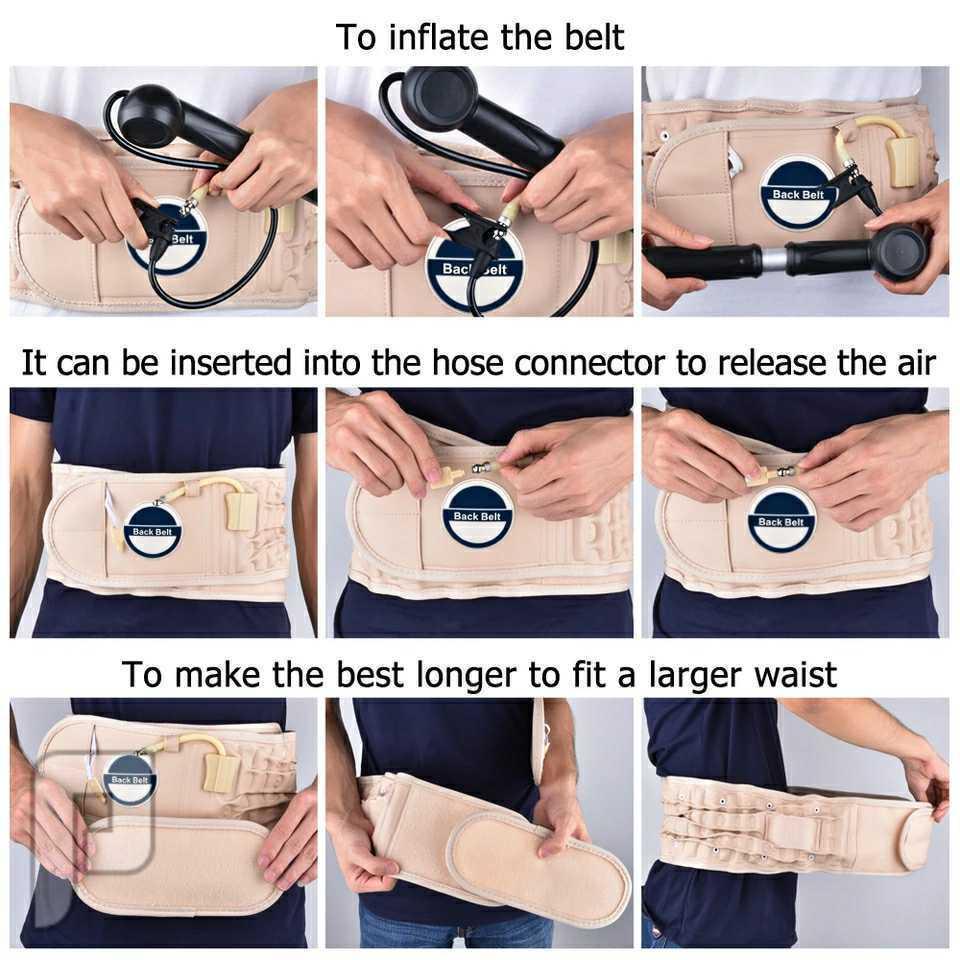 حزام ظهر نفخ لعلاج الإنزلاق الغضروفي