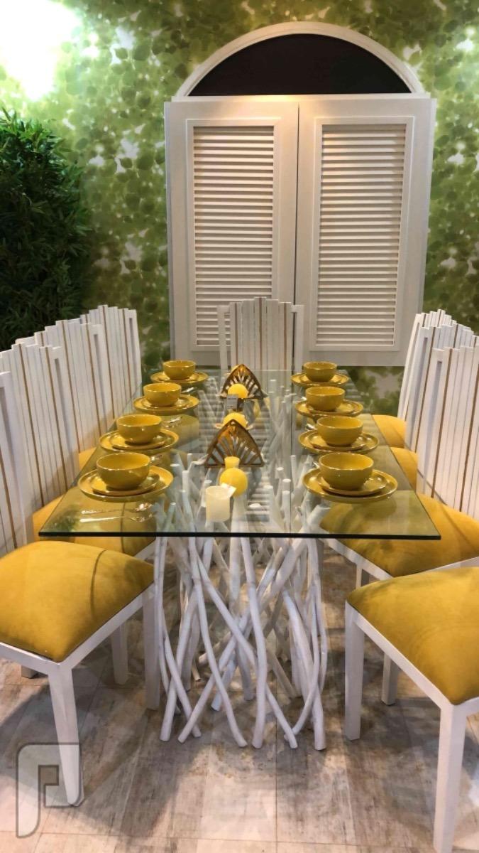 طاولة طعام وبوفيه جديددد خشب  دي اف