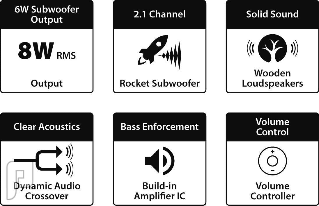 سماعات سبيكر كمبيوتر خارجية مع مضخم من جينيوس