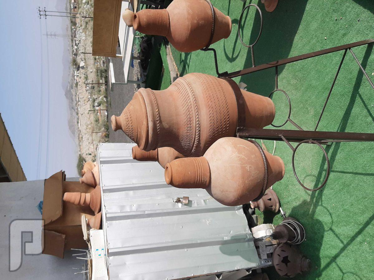 للبيع فحم وشويات وبراميل المندي وفخاريات طقم زير مع ثلاثه شربات  250ريال