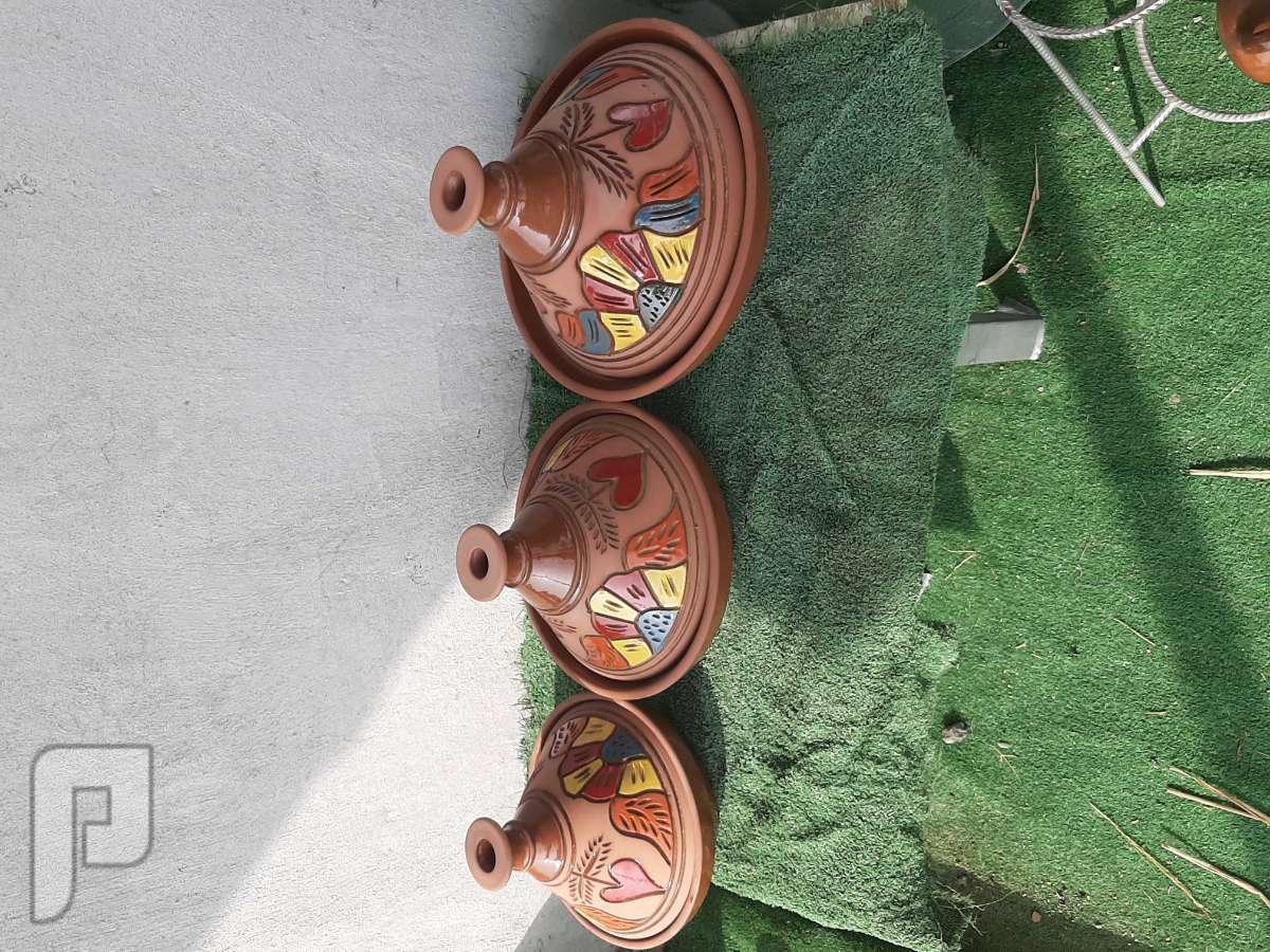 للبيع فحم وشويات وبراميل المندي وفخاريات طاجن فخار مصري  ثلاثه مقاسات