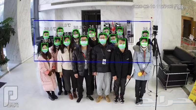 كاميرات مراقبه حرارية لكشف كورونا للشركات