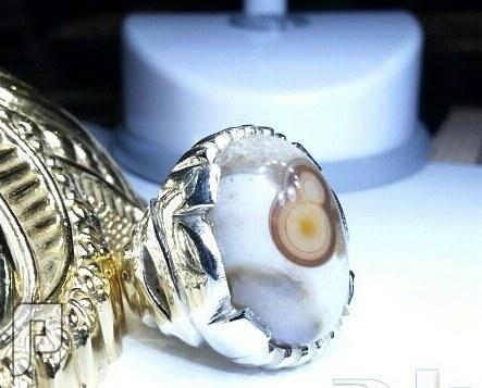 خاتم عقيق هندي طبيعي 8