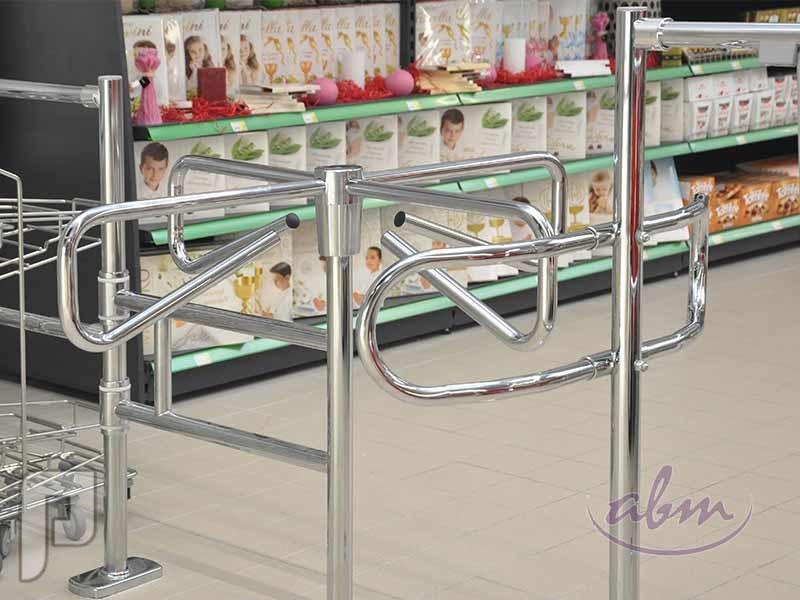 بوابات دوارة متأرجحة ل دخول الافراد السوبرماركت والمولات والمتاجر