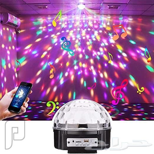 جهاز اضاءة متعدد الألوان مع موسيقا