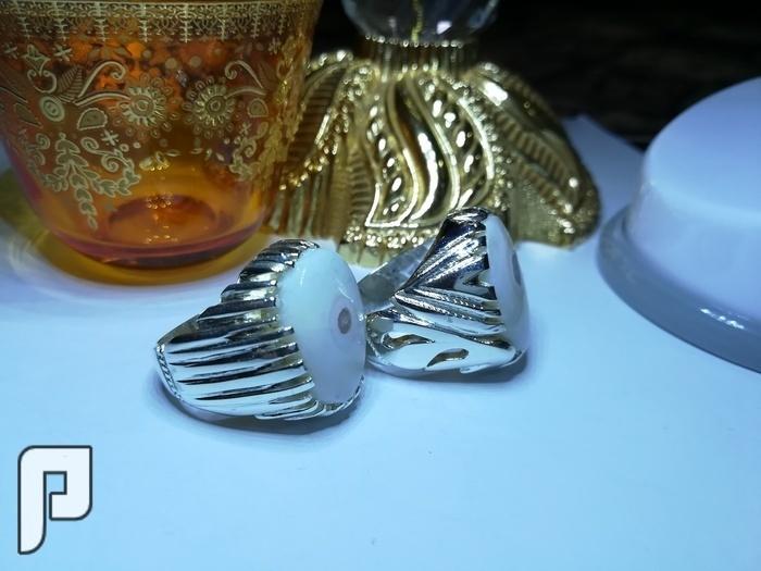 خاتمين عقيق يماني طبيعي حجرين توأم