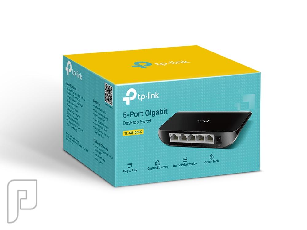 موزع شبكة سويتش تبي لينك 5Port Gigabit Desktop Switch