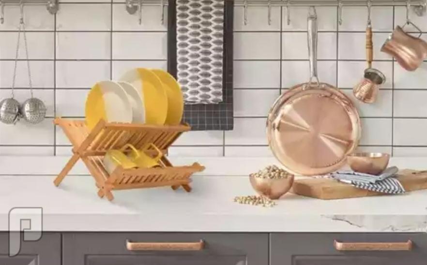 رف تنظيم الأطباق القابل للطي