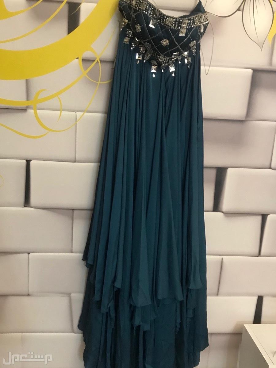 فستان سهرة ازرق