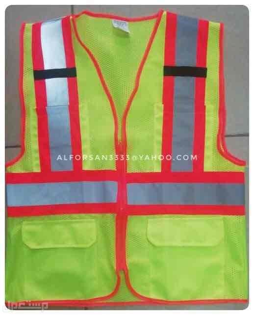 سترة سلامة عاكسة للعمال والمهندسين والمشرفين والمراقبين Reflective Vest Jeddah