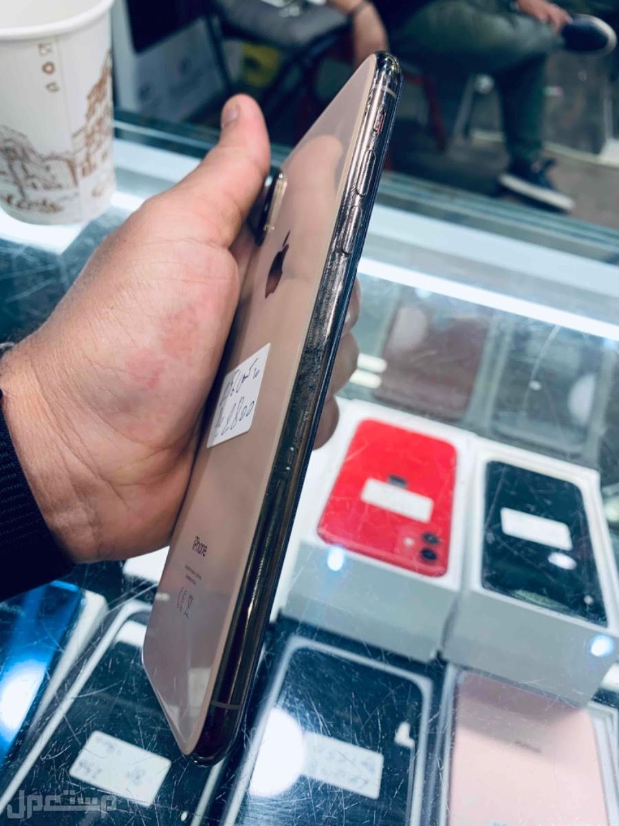 للبيع ايفون اكس اس ماكس 256 ذهبي مستخدم