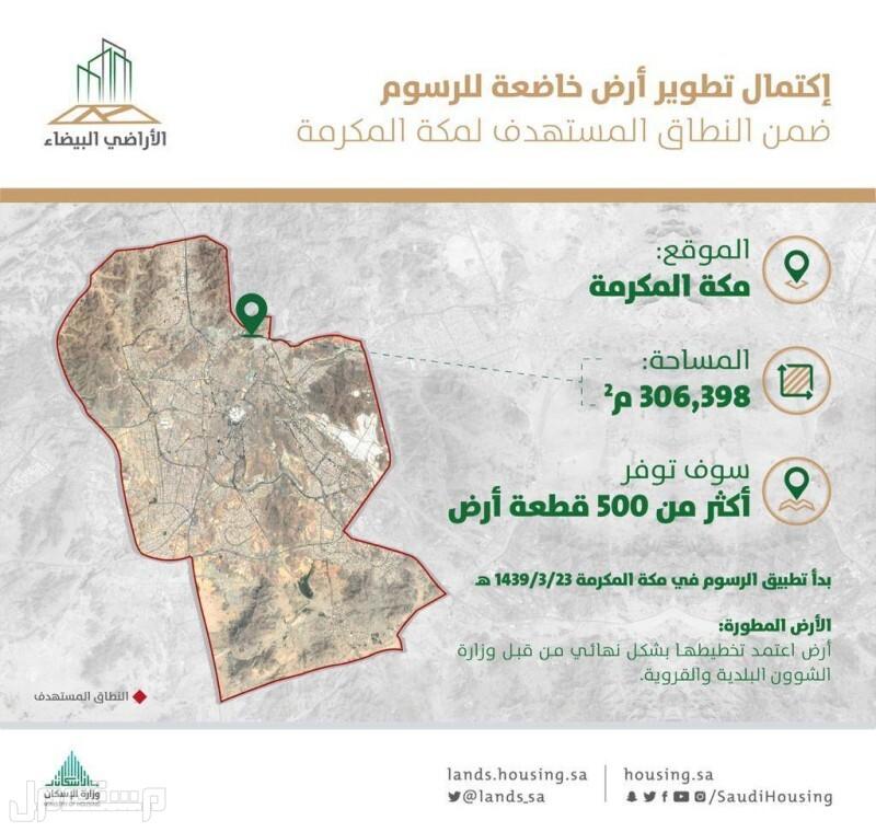 مكة: تطوير أرض بيضاء بمساحة 300 ألف م2