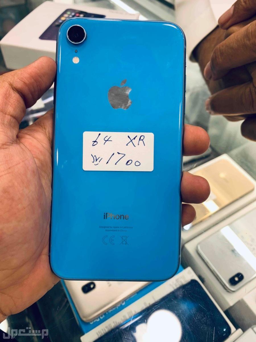 للبيع ايفون اكس ار 64 ازرق مستخدم