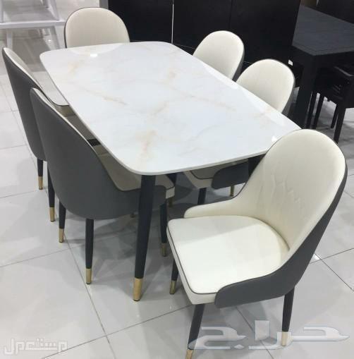 طاولة طعام رخام خامة ممتازة جودة عالية