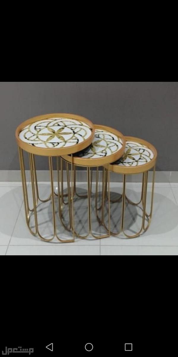 طاولات خدمة 3 قطع استيل