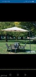 جلسات طاولات خارجيةشماسات مراجيح خيام برقولات خشبية