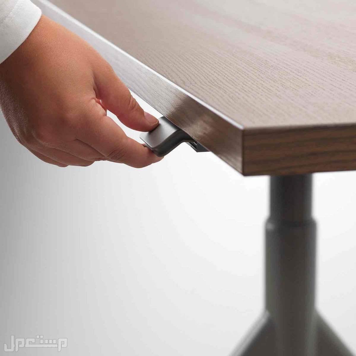 مكتب متغير الارتفاع مع كرسي و وحدة ادراج