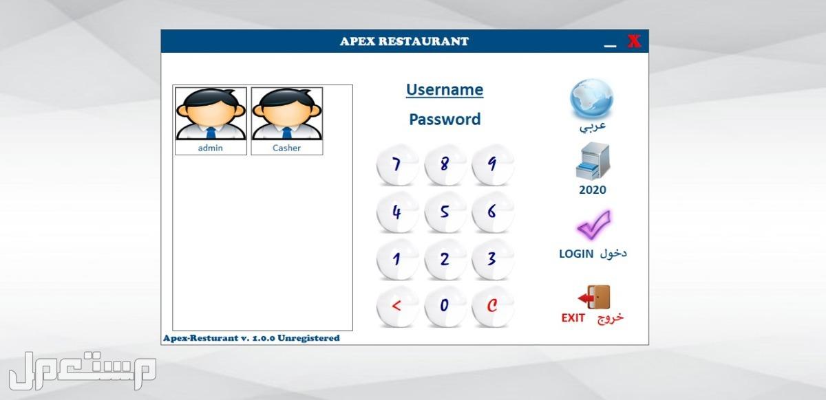 برنامج APEX مخزون ومشتريات ومبيعات وحسابات عامة