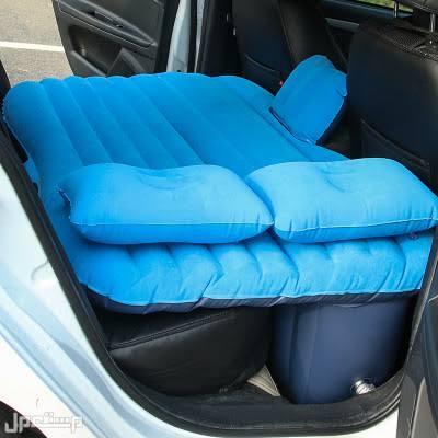سرير للمقعد الخلفي للسيارة قابل للنفخ مع وسادتين