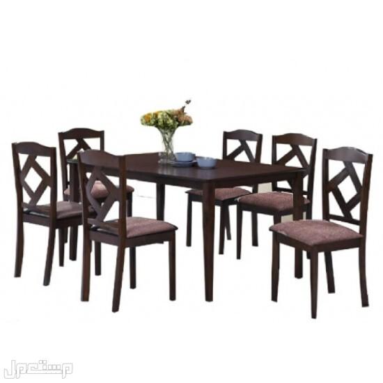 طاولة طعام 6 كراسي لون بني لخدمتك بشكل سريع ارسل طلبك واتس  حسابي استقرام / shwbnwr
