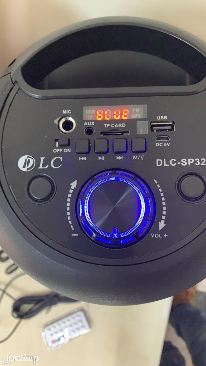 سماعة مكبر الصوت اسطوانية الشكل + مايك ضمان سنتين