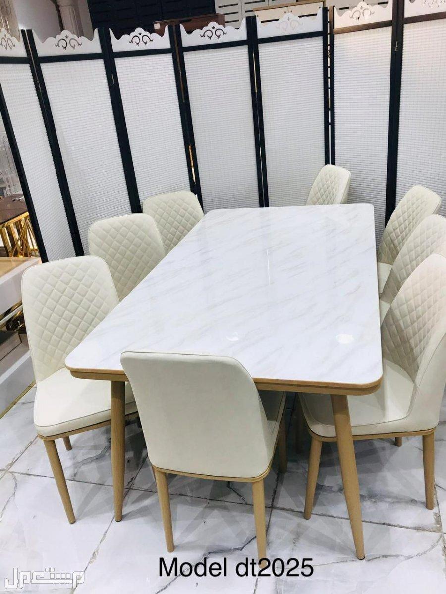 طاولات طعام رخام مودرن