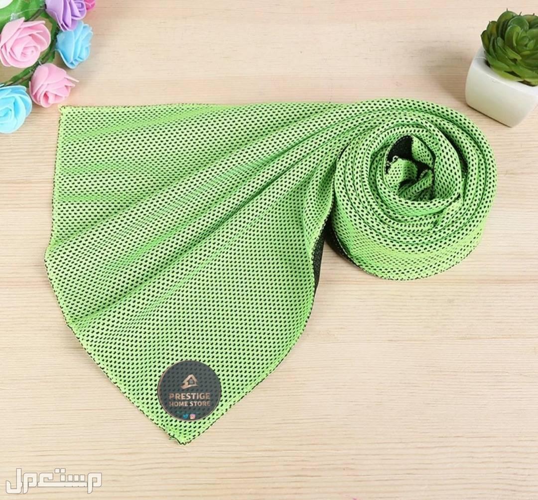 المنشفة الباردة أخضر