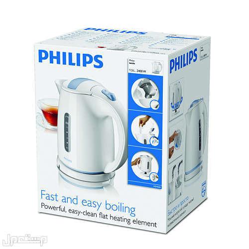 غلاية فيليبس 1.5لتر بقوة 2400 واط لون أبيض ضمان سنتين