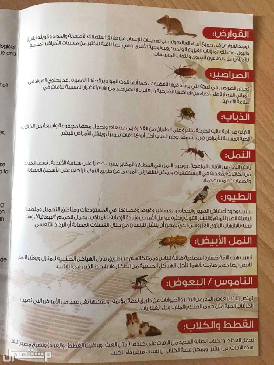 مكافحة حشرات وتعقيم ضد الفيروسات Pest Control
