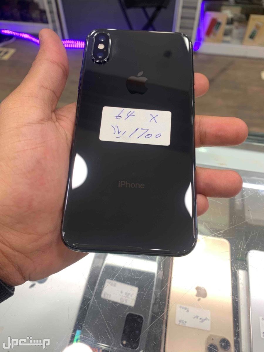 للبيع ايفون اكس اسود 64 مستخدم