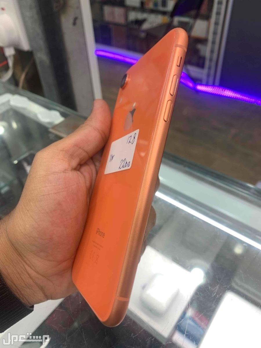 للبيع ايفون اكس ار برتقالي 128 مستخدم