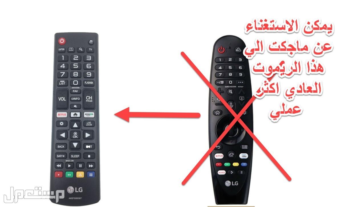 ريموت جميع تلفزيونات LG ال جي الجديد الاصلي سمارت العادي